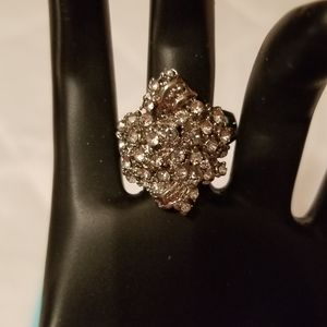 White Topaz Ring Size 7 Sterling silver